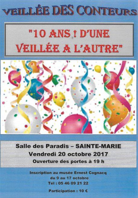 Affiche 10ème soirée Conteurs Rétais - 20 octobre 2017
