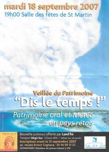 Affiche 1ère soirée Conteurs Rétais -2007