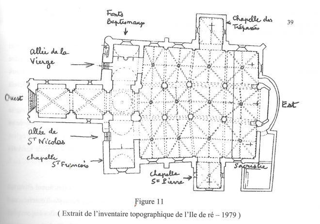 Ars-en-Ré - Plan de l'église - Livre Pierre Goguelin