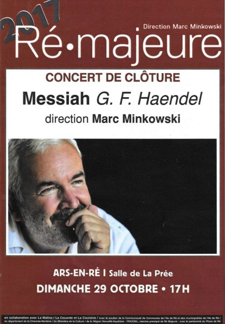 Ars-en-Ré - Le Messie - Marc Minkowski - 27 octobre 2017