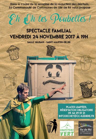 Affiche Eh Oh les Poubelles - 24 novembre 2017