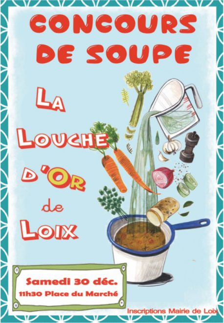 Loix - Affichette concours de soupe - 30 décembre 2017