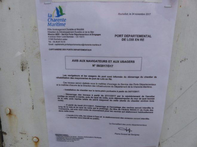 Digue de Loix - Muret port - Département - 27 novembre 2017