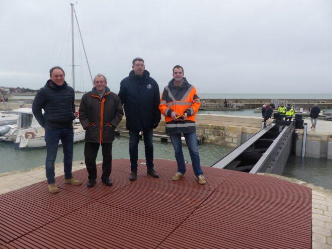 La Flotte - Léon Gendre, Lionel Quillet, et équipe Département - 31 décembre 2017