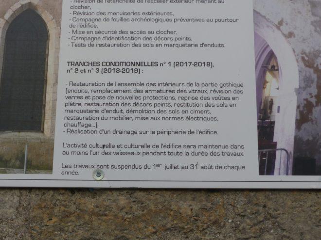 Ars-en-Ré - Planning travaux église - 18 novembre 2017