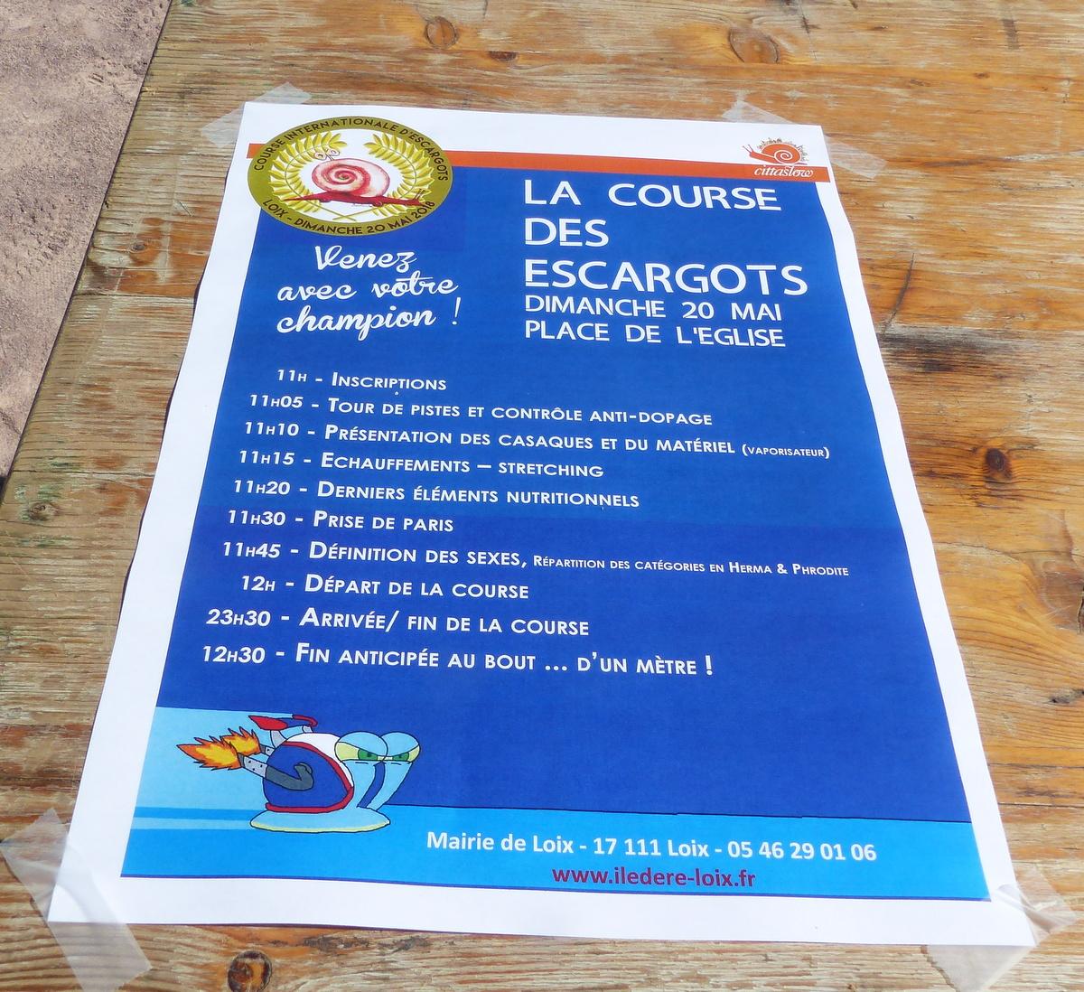 Loix - 6ème course escargots - 20 mai 2018