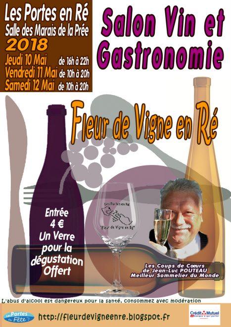 Affichette 10e Salon du Vin - Les Portes - Mai 2018
