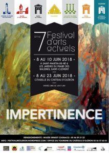 Affichette Festival M'L'Art - Ile de Ré - 8 au 10 juin 2018