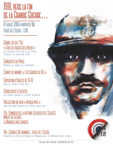 Loix - Affiche Vers la fin de la Grande Guerre - 14 juillet 2018