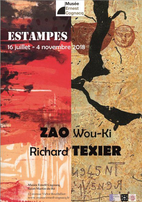 Affichette expo Zao Wou-Ki + Richard Texier - juillet à novembre 2018