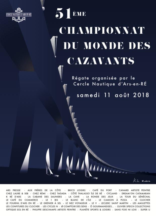 Affichette Championnat du monde des Cazavants - 11 août 2018