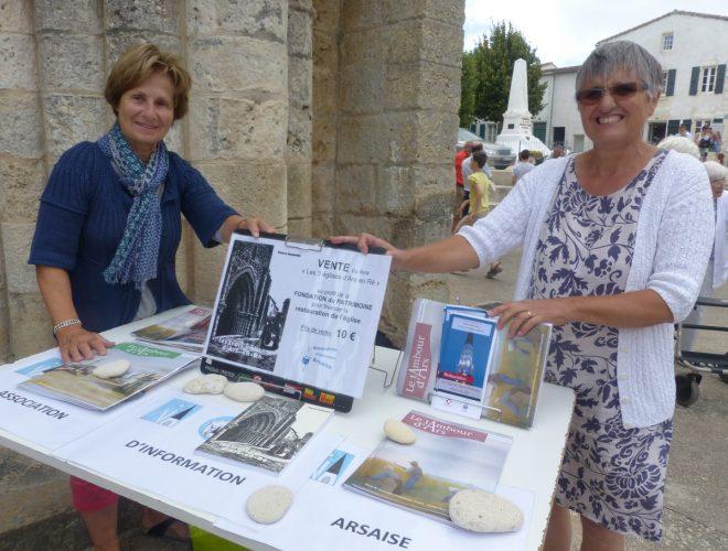 Ars-en-Ré - Vente livre Pierre Goguelin - juillet 2018