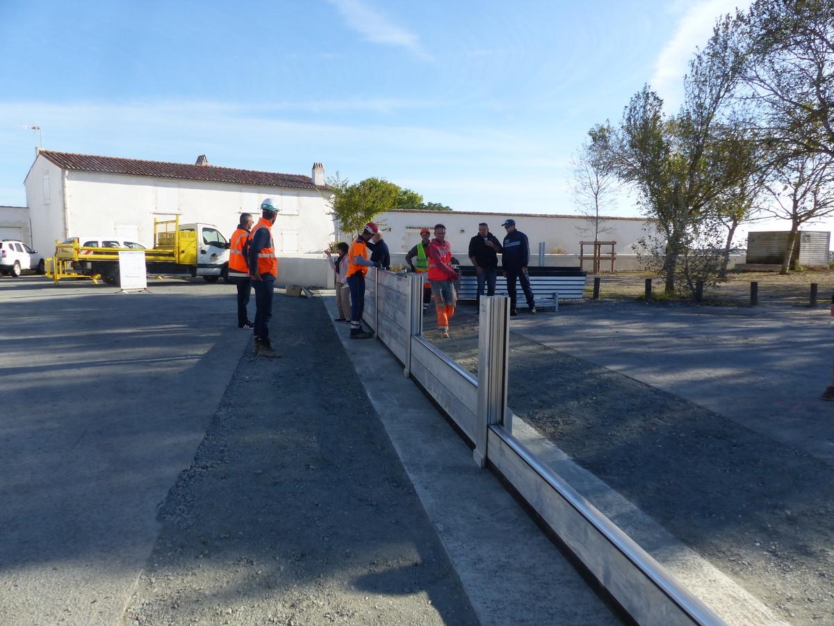 Port de Loix - 1er essai batardeau - 24 septembre 2018