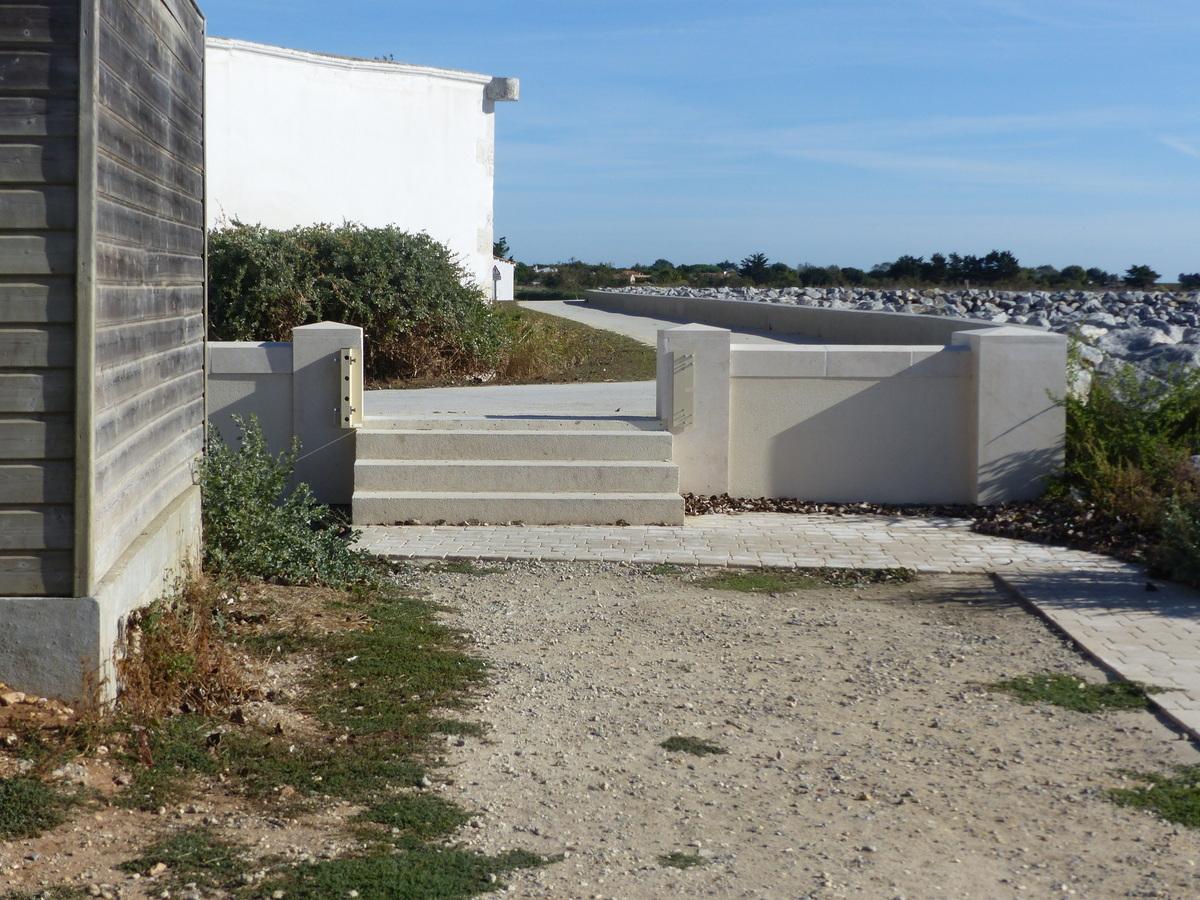 Port de Loix - Porte anti-submersion digue - 24 septembre 2018
