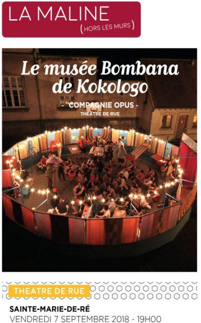 Affichette spectacle Musée de Kokologo - 7 septembre 2018