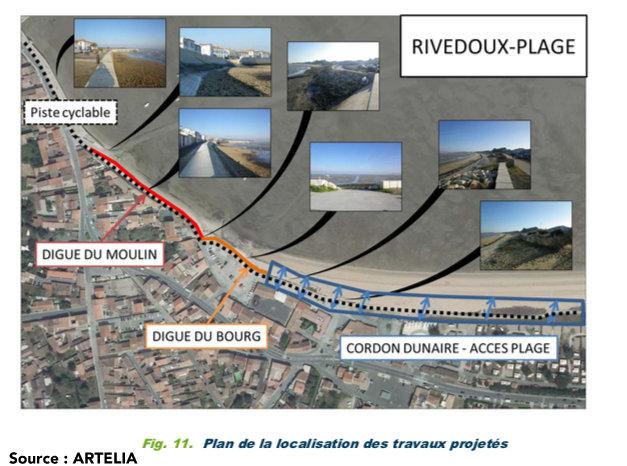 Rivedoux - Travaux digue du Bourg - Plan Artelia - 27 septembre 2018