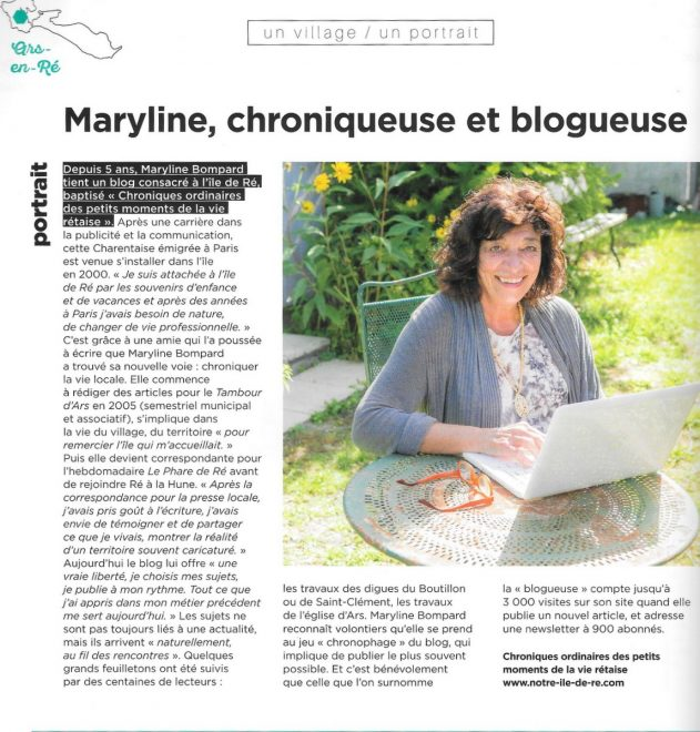 Article Ile de Ré Magazine 2018