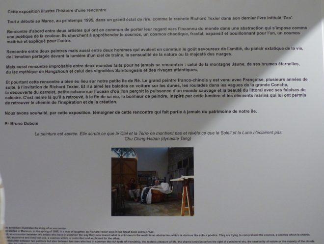 Expo Zao Wou-Ki et Richard Texier - Musée Ernest Cognacq - 5 août 2018