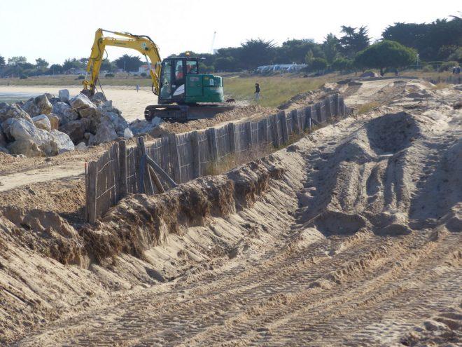 Rivedoux - Chantier de reconstruction de la digue du Bourg - 27 septembre 2018