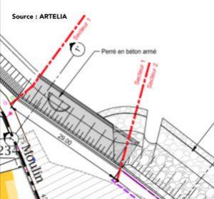 Digue de Rivedoux - Schéma Artelia - juillet 2016