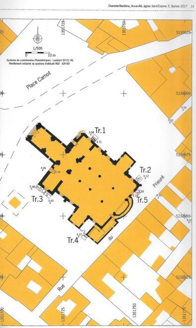 Ars-en-Ré - Eglise - Localisation du diagnostic archéologique - Juillet 2018