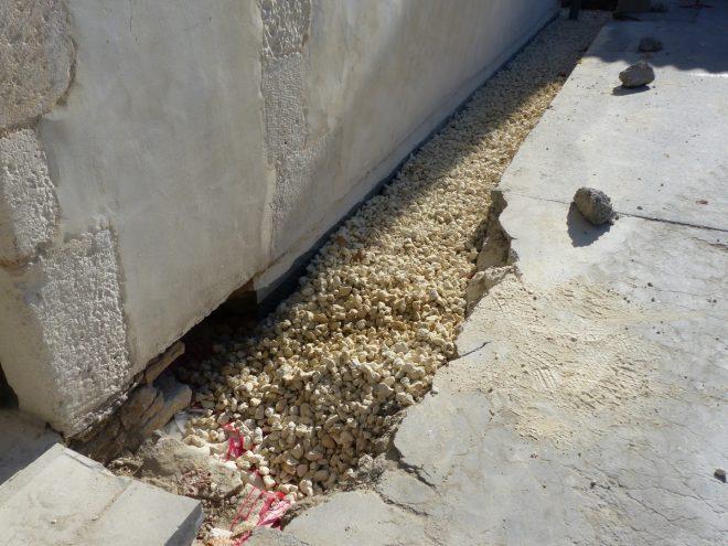 Eglise Ars - Travaux de drainage - Petit calcaire - 2 octobre 2018