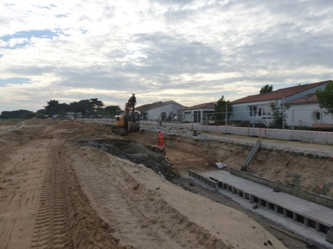 Rivedoux-Plage - Travaux digue - Muret - 18 octobre 2018