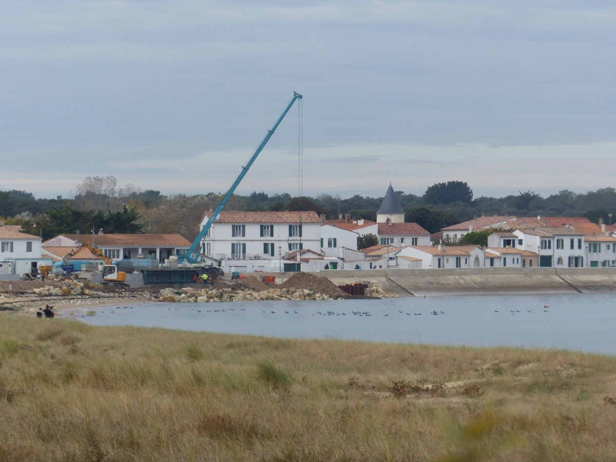 Rivedoux-Plage - Travaux digue - 31 octobre 2018