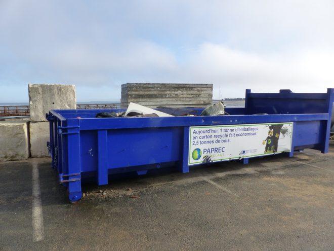 Digue de Rivedoux - Benne à déchets - 8 novembre 2018