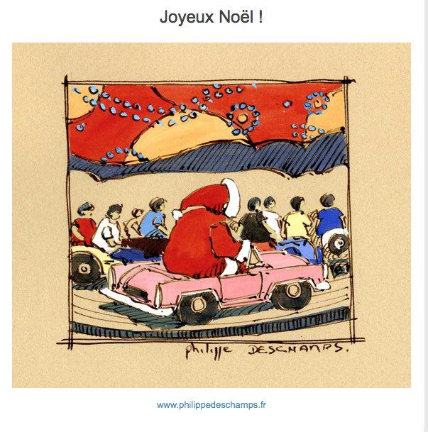 Ile de Ré - Carte de Noël 2018 - Philippe Deschamps
