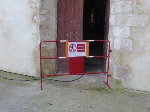 Ars-en-Ré - Eglise - Chantier interdit au public