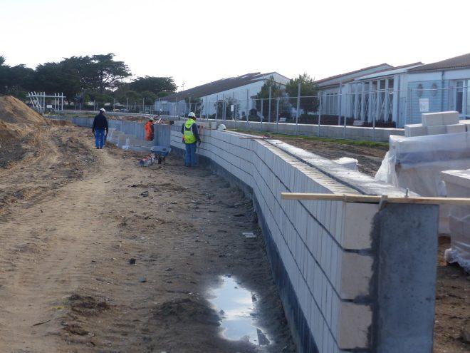 Rivedoux - Reconstruction digue - Muret - 20 décembre 2018