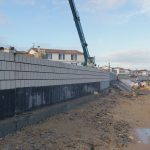 La digue de Rivedoux, au bout de 3 mois de chantier