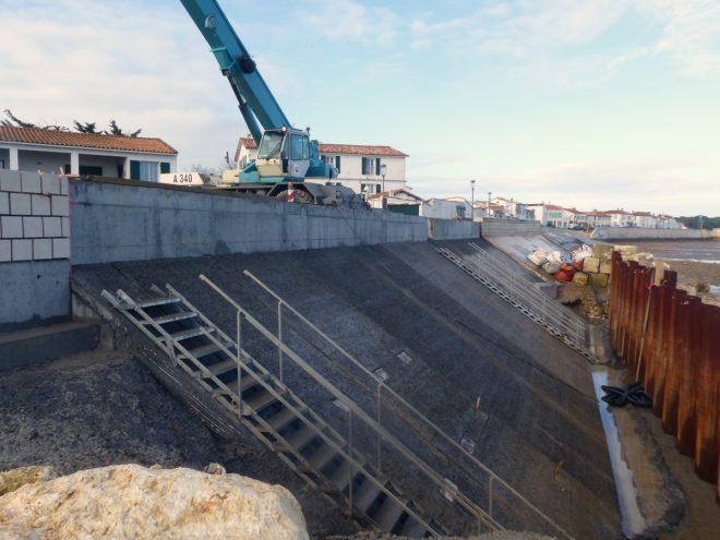 Rivedoux - Reconstruction digue - Perré - 20 décembre