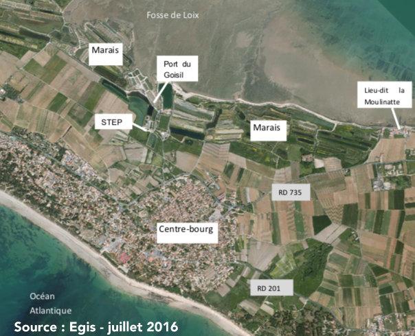 La Couarde - Schéma général digue  - Septembre 2019