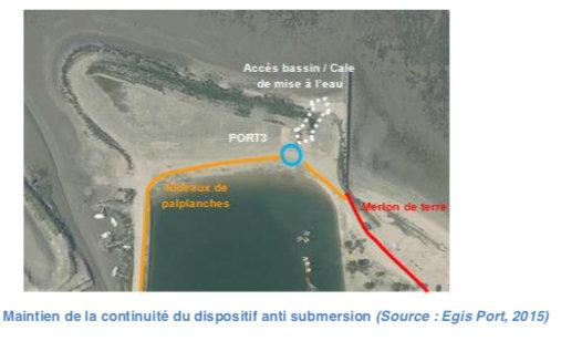 La Couarde - Schéma port du Goisil- Nouvelle digue - septembre 2019