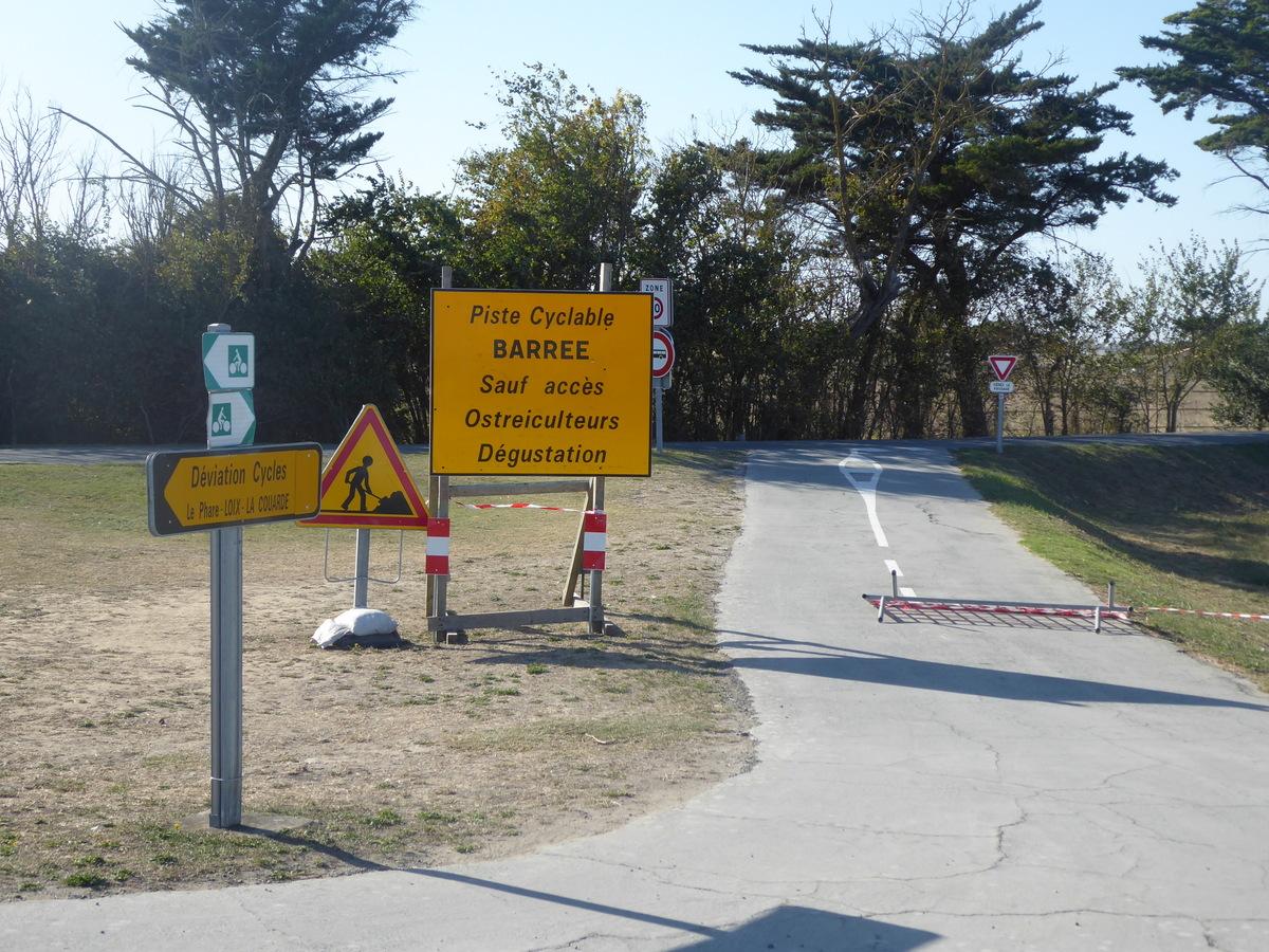 Saint-Martin - piste cyclable fermée - 24 septembre 2019
