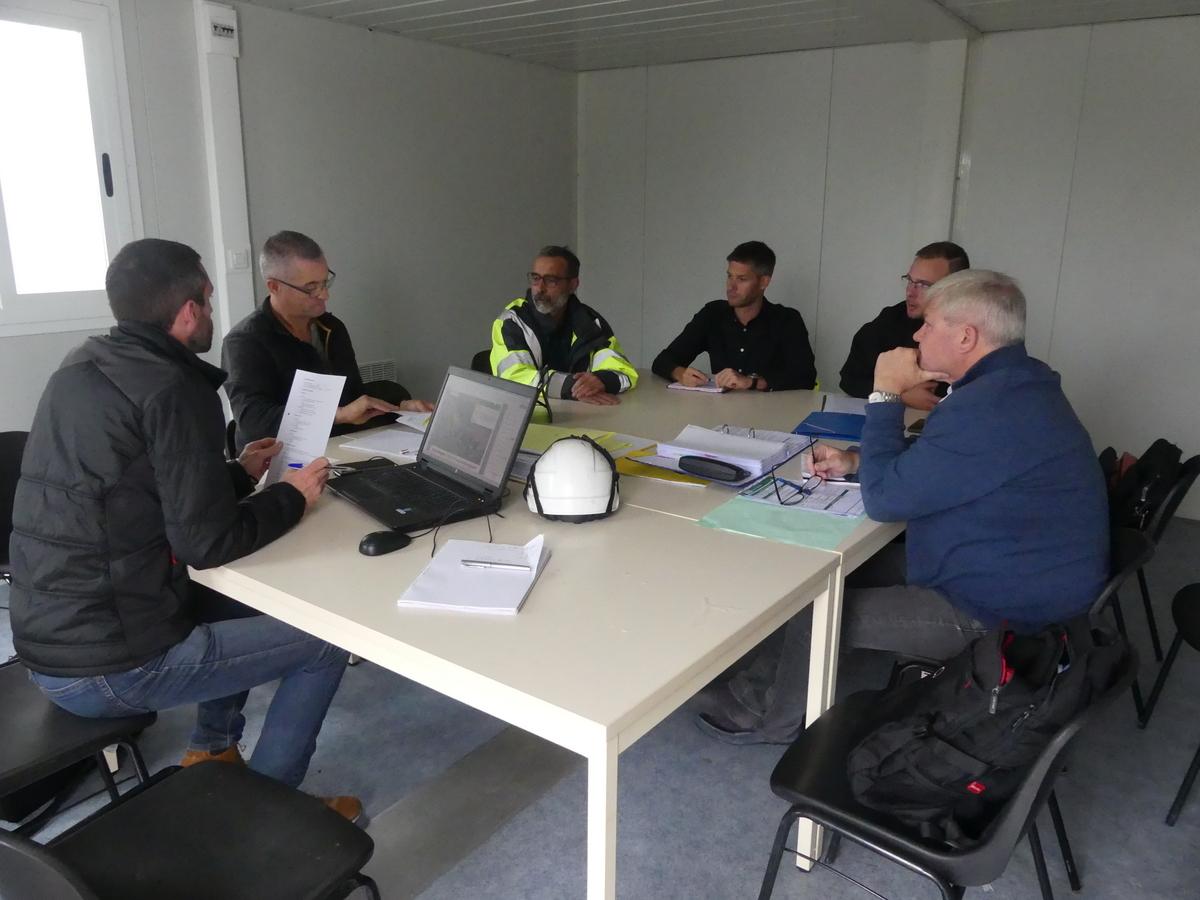 La Couarde - Digue - 1ère réunion de chantier - 24 septembre 2019