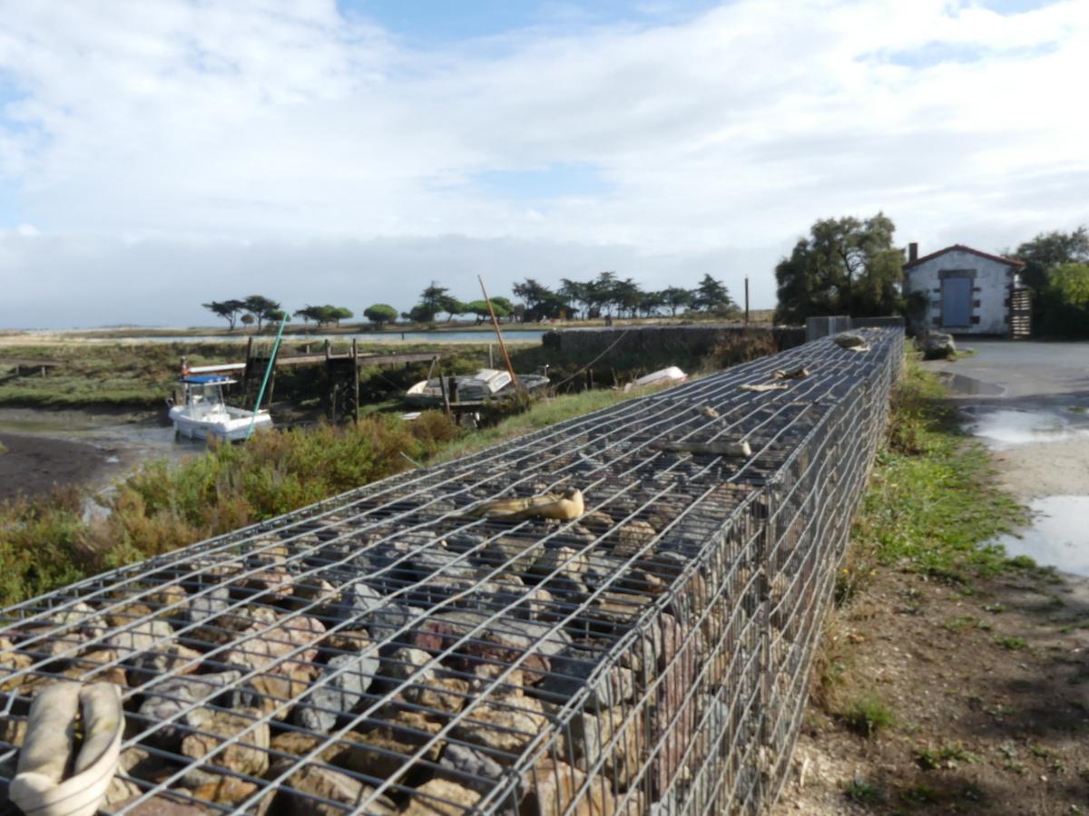 La Couarde - port du Goisil - Gabions - 24 septembre 2019