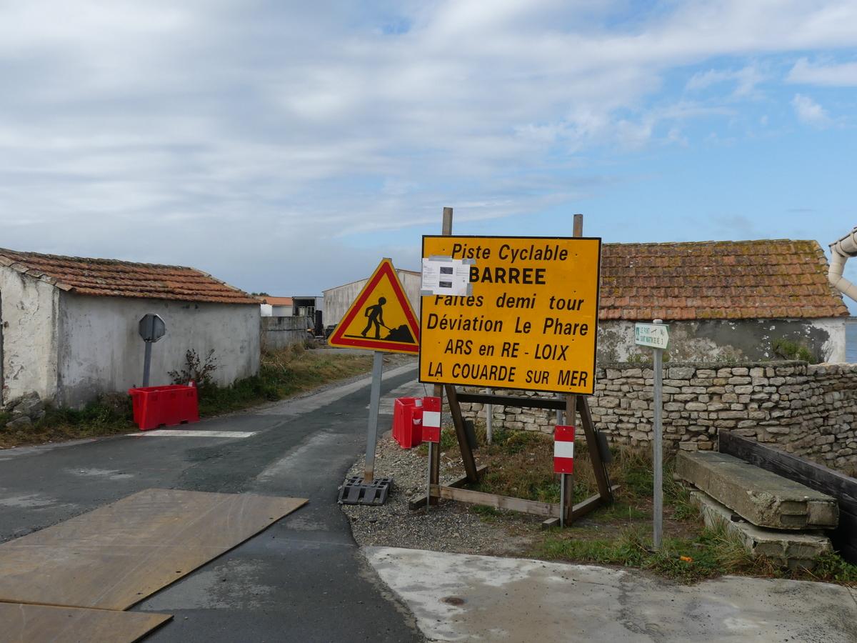 La Couarde - piste cyclable fermée - 24 septembre 2019
