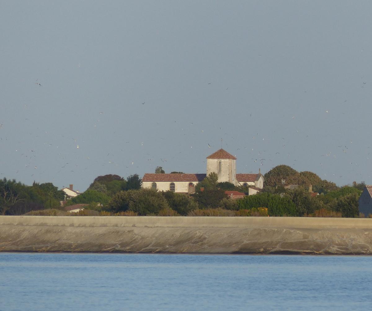 Loix - Eglise vue de la mer - 23 septembre 2017
