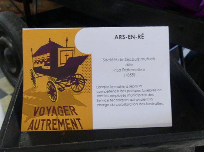 Ile de Ré - Expo Voyager autrement -  Ars - oct/nov 2019