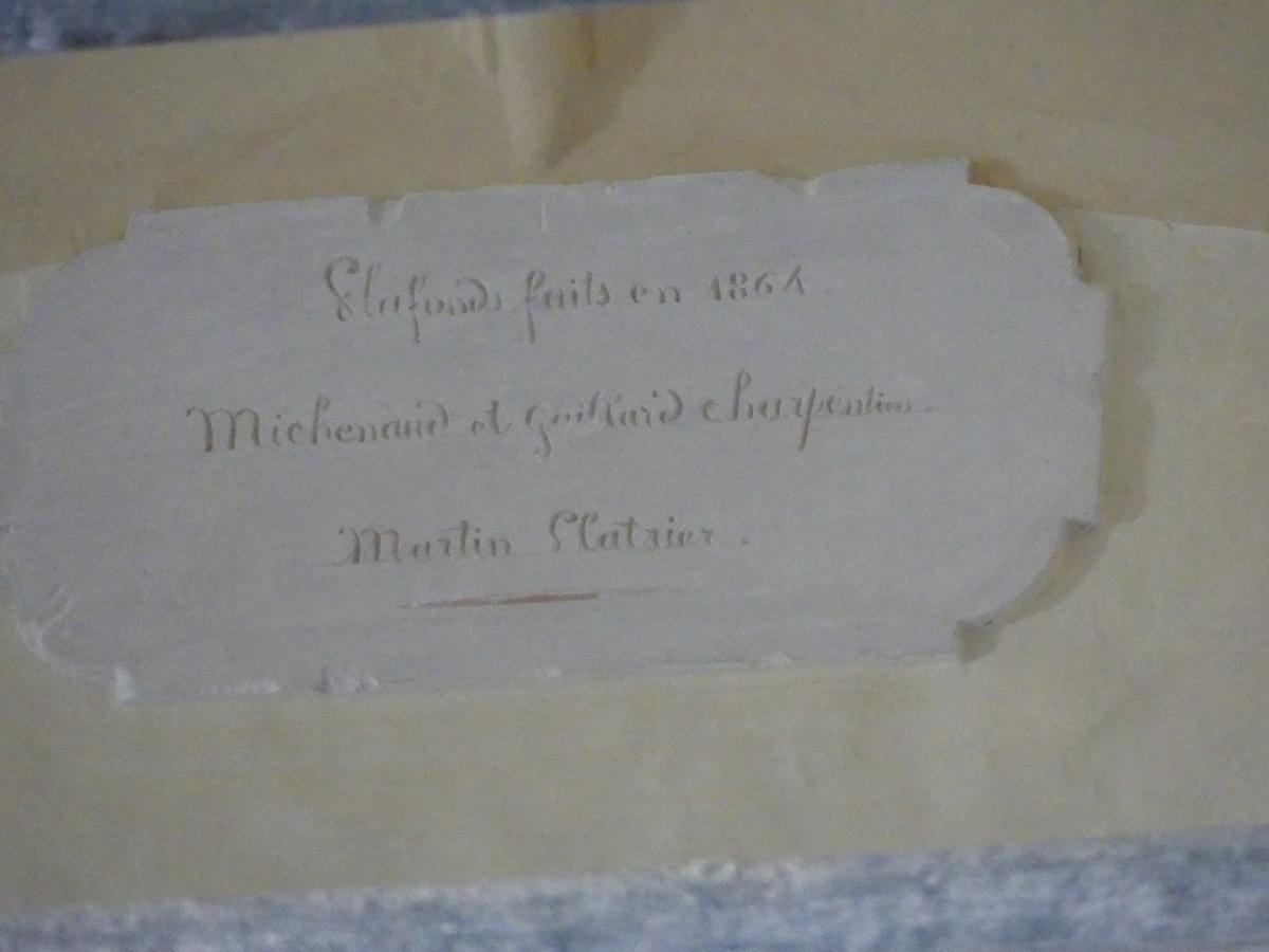 Ars - Eglise - Plaque ancienne signée artisans - 26 septembre 2019