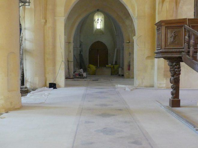 Ars - Travaux église - Nef centrale - 12 septembre 2019