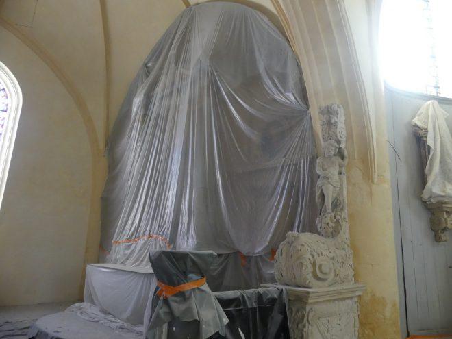 Ars - Eglise - Retable caché - 12 septembre 2019