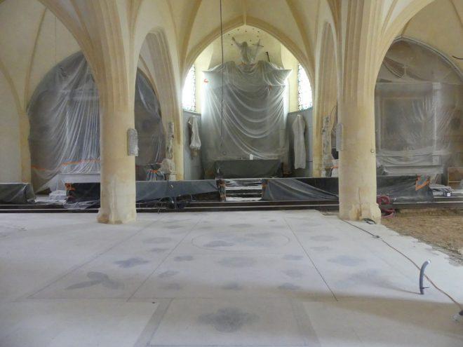Ars - Travaux église - Nef centrale - 26 septembre 2019