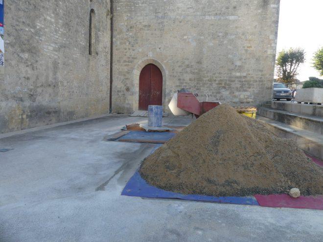 Ars - Eglise - Travaux allée Saint-Nicolas -11 octobre 2019