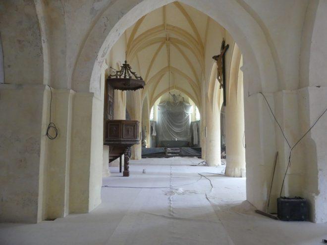 Ars - Eglise -Plafonds voûtés terminés - 23 octobre 2019