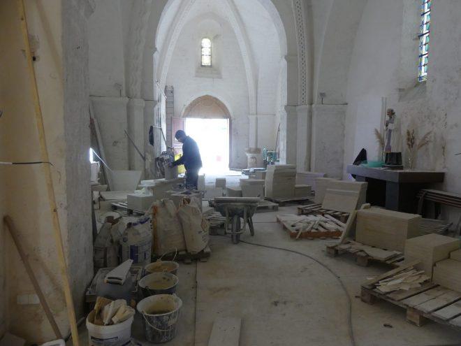 Ars - Eglise - Travaux allée Saint-Nicolas -23 octobre 2019