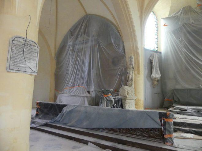 Ars - Eglise - Retable caché - 23 octobre 2019